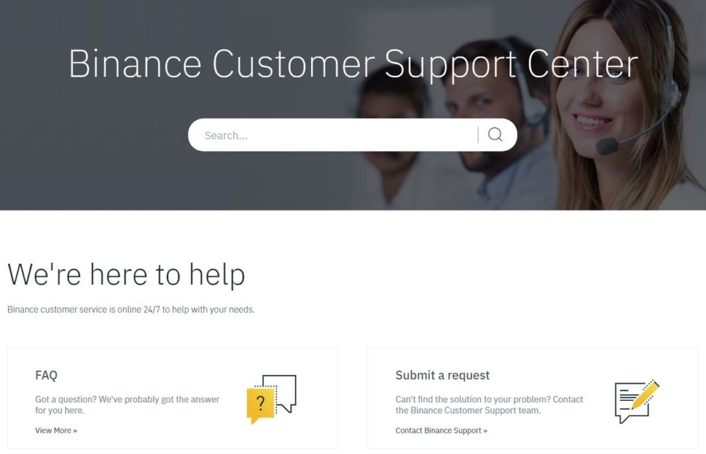 Binance Exchange Customer Support